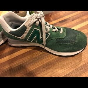 Men New Balance Classic 574 in green